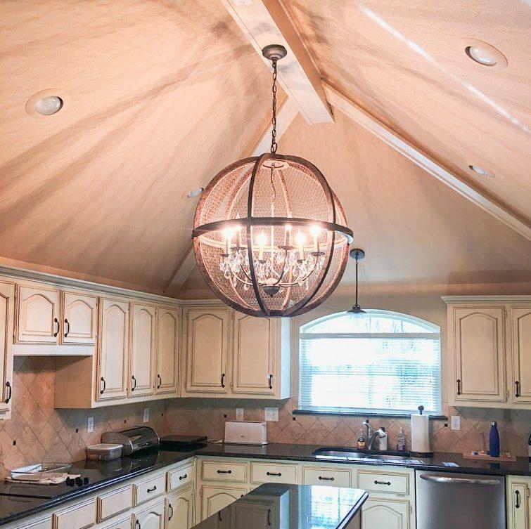 Kitchen ceiling light fixture.