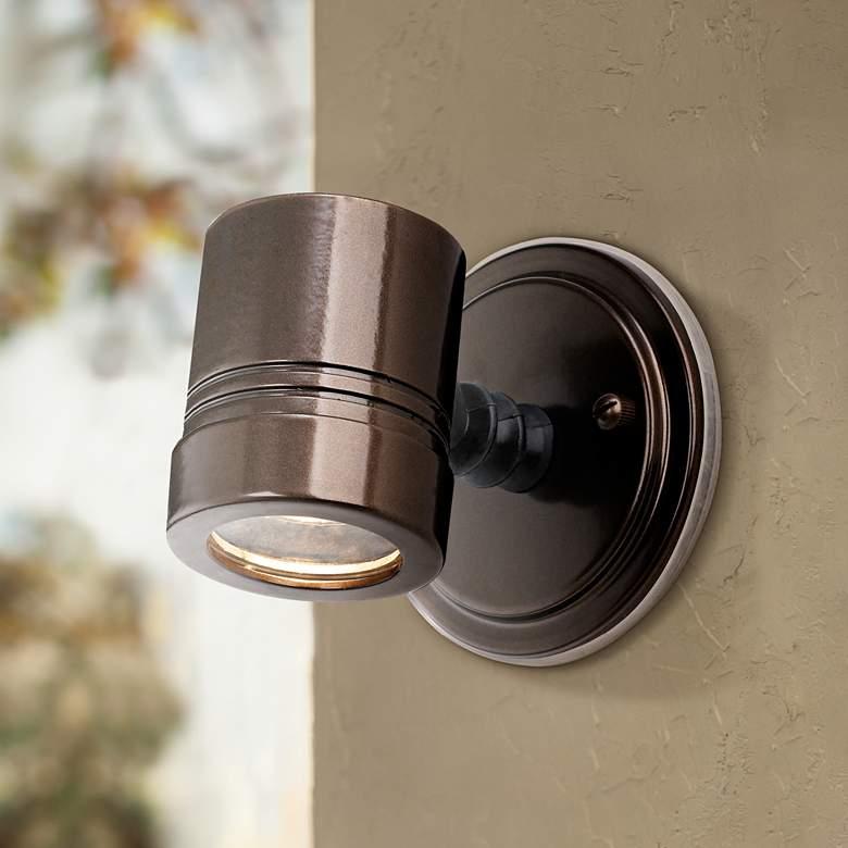 Myra Collection Bronze Outdoor Halogen Security Spotlight